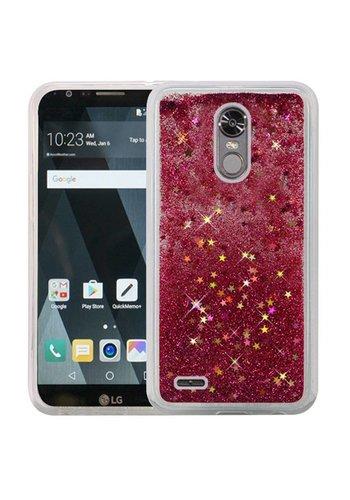 Liquid Quicksand with Glitter Hybrid Hard PC TPU Case for LG Stylo 3 (LS777) / Stylo 3 Plus