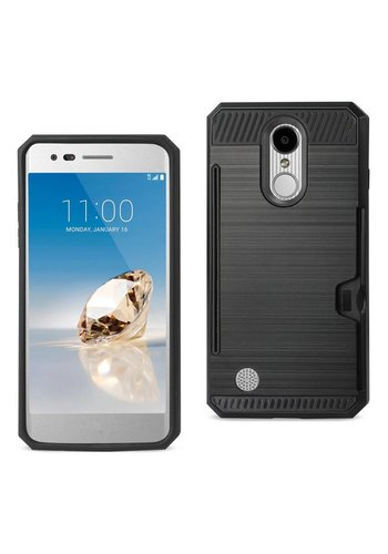 Armor Brushed Case With Card Slot For LG Aristo LV3