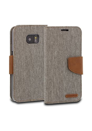 ModeBlu Canvas Wallet Pocket Diary Case for Galaxy S7 Edge