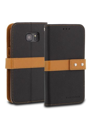 ModeBlu PU Leather Wallet Journal Diary Case for Galaxy S7 Edge