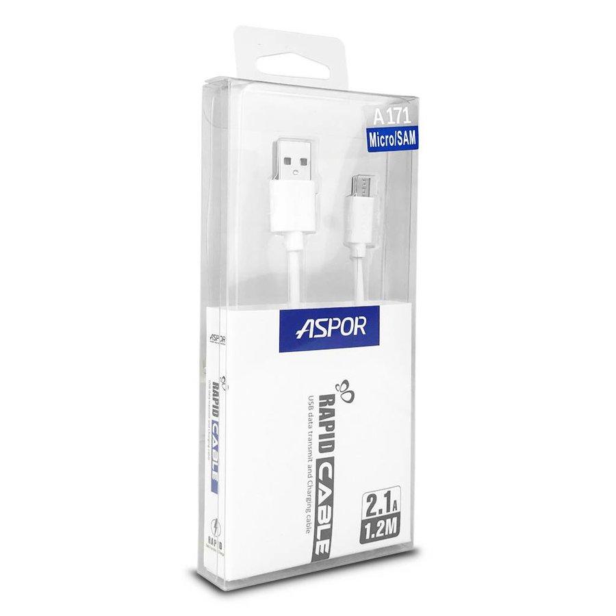 Aspor Rapid Cable 2.1A Micro USB Data Transmit & Charging A171 (1.2 m)