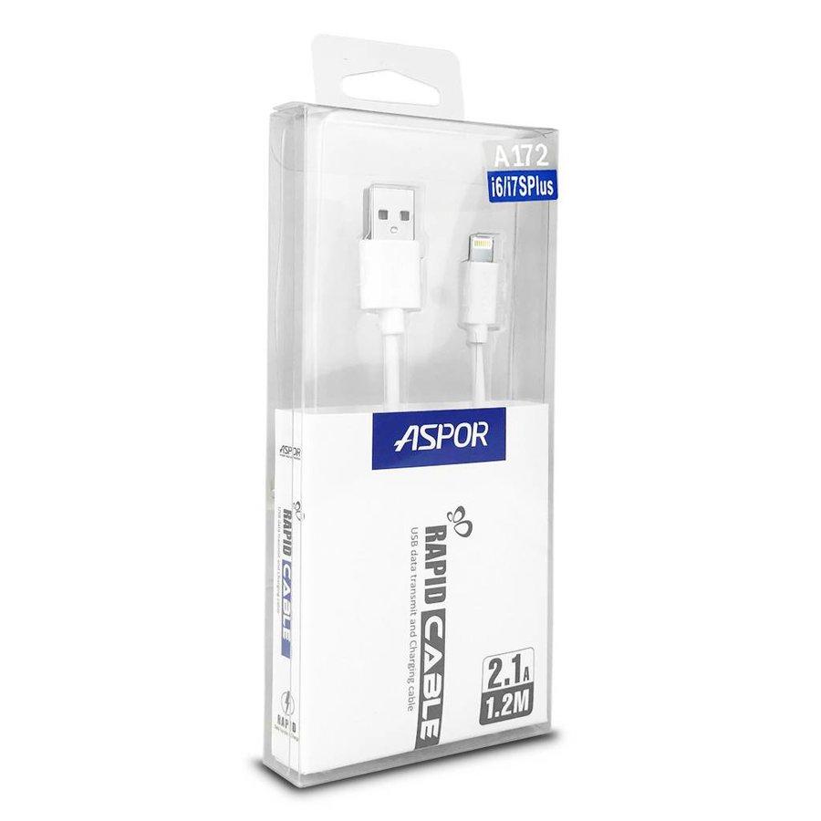 Aspor Rapid Cable 2.1A Lightning USB Data Transmit & Charging A172 (1.2 m)