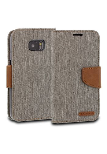 ModeBlu Canvas Wallet Pocket Diary Case for Galaxy S7