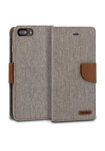 ModeBlu Canvas Wallet Pocket Diary Case for iPhone 7/8 Plus
