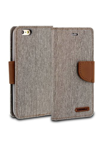 ModeBlu Canvas Wallet Pocket Diary Case for iPhone 6/6S