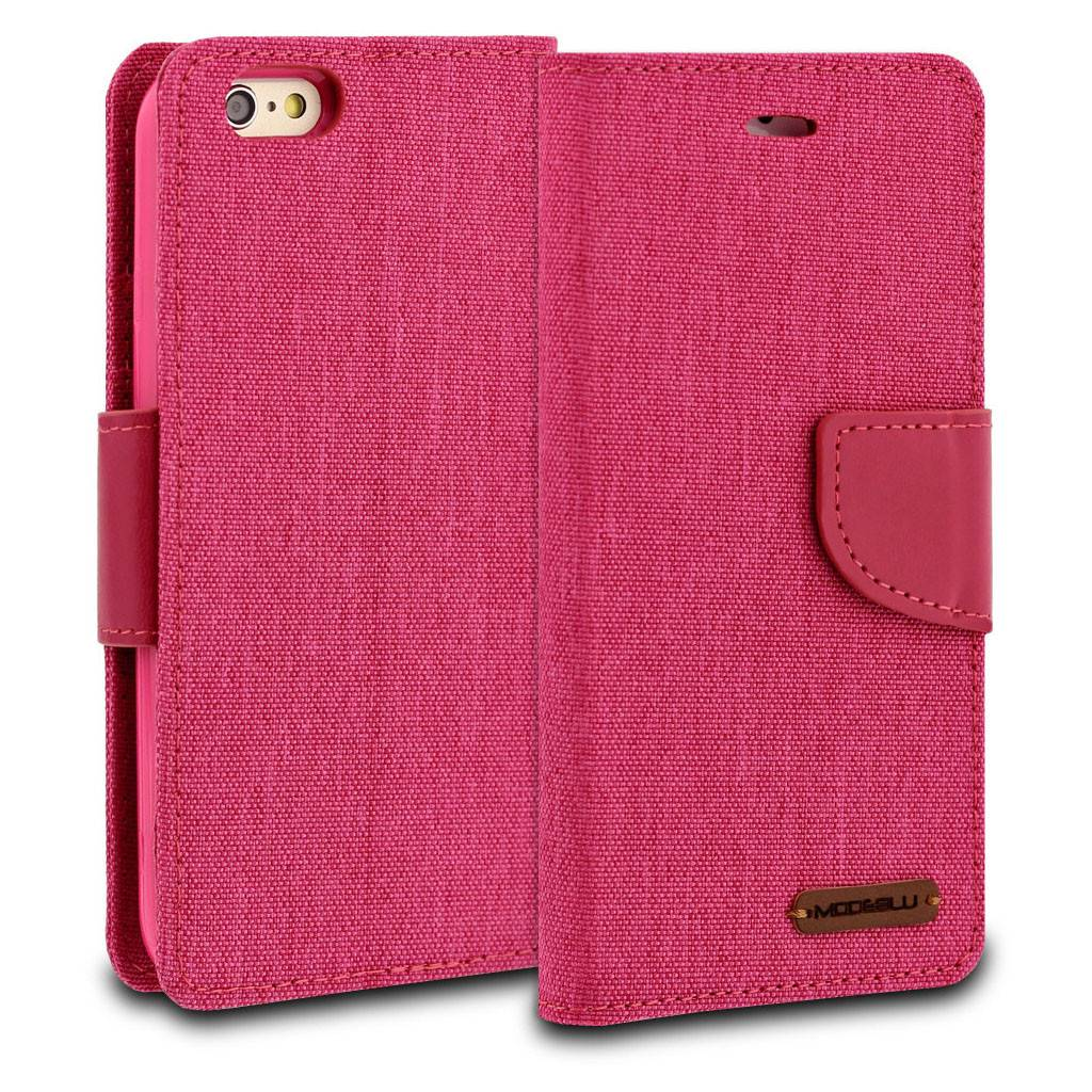 Modeblu Canvas Wallet Pocket Diary Case For Iphone 6 6s