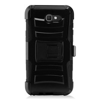 Armor Kickstand Holster Clip Case for Galaxy J7 Perx / Prime 2017