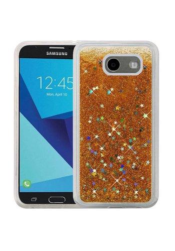 Liquid Quicksand with Glitter Hybrid Hard PC TPU Case for Galaxy J7 Perx / Prime 2017