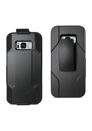 Reiko Hybrid Heavy Duty Holster Clip Case for Galaxy S8