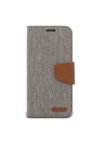 ModeBlu Canvas Wallet Pocket Diary Case for Galaxy S8