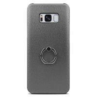 Fashion PU Leather Ring Case for Galaxy S8