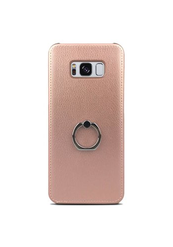 Fashion PU Leather Ring Case for Galaxy S8 Plus