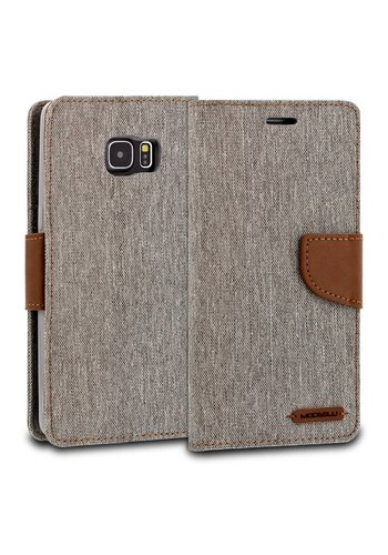ModeBlu Canvas Wallet Pocket Diary Case for Galaxy S6 Edge Plus