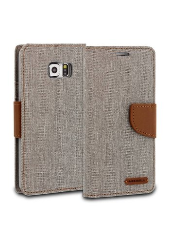 ModeBlu Canvas Wallet Pocket Diary Case for Galaxy S6 Edge