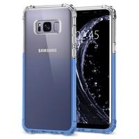Clear Color Gradient Edge PC + TPU Bumper Case For Galaxy S8 Plus