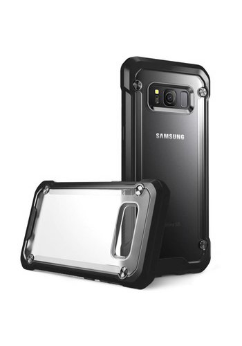 Frost Clear PC + TPU Shockproof Colored Bumper Case For Galaxy S8 Plus