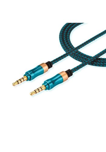 3.5mm Non Tangle Braided AUX Cable (1.5M / 5 Feet) with Metallic Design Ends
