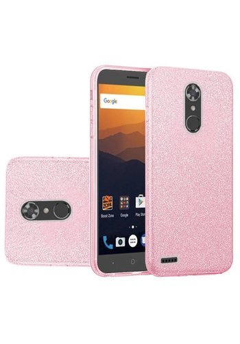 Hybrid Clear PC TPU Case with Glitter Paper For ZTE MAX XL N9560