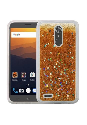 Liquid Quicksand with Glitter Hybrid Hard PC TPU Case for ZTE MAX XL N9560