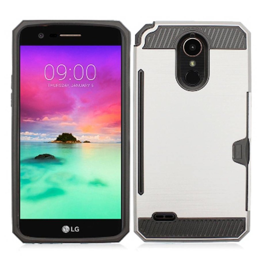 Armor Brushed Case With Card Slot For LG Stylo 3 (LS777) / Stylo 3 Plus