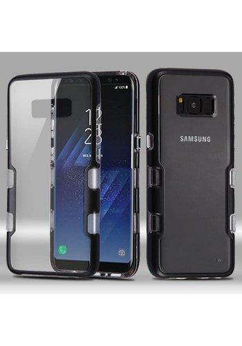 MYBAT Transparent Clear TUFF Metallic Edge Case For Galaxy S8