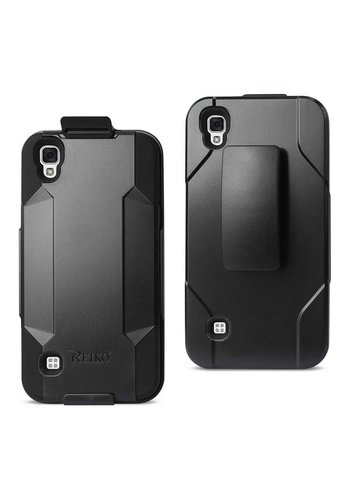 Reiko Hybrid Heavy Duty Holster Clip Case for LG Tribute HD LS676