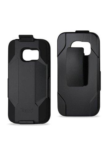 Reiko Hybrid Heavy Duty Holster Clip Case for  Galaxy S7 Edge