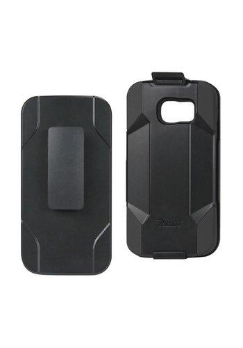 Reiko Hybrid Heavy Duty Holster Clip Case for Galaxy S6 Edge