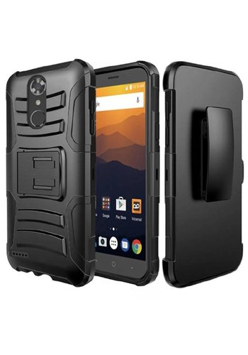 Armor Kickstand Holster Clip Case for ZTE MAX XL