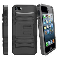 Armor Kickstand Holster Clip Case for iPhone 5/5S/SE