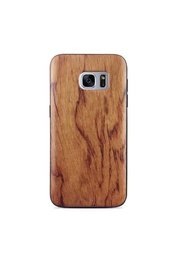 Wooden Mahogany Style Fashion Case for Galaxy S7