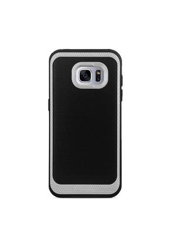 Rubberized Hybrid Color Boarder Fashion Case for Galaxy S7 Edge