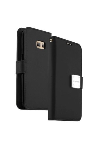 ECLIPSE Hybrid PU Leather Flip Cover Case Wallet with Credit Card Slots for LG K10