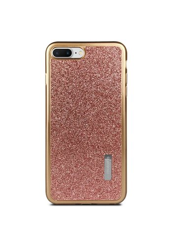 Fashion Motomo TPU Gel Glitter Case with Solid Edges For iPhone 7/8 Plus