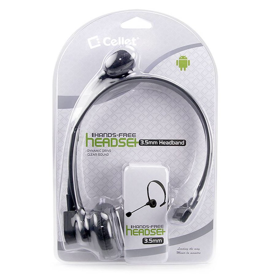 Cellet 3.5mm Hands-Free Headset with Volume Control (EP350M)