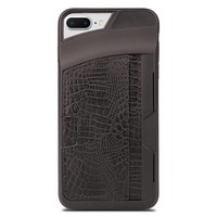 Fashion TPU Alligator Case with Credit Card Slot For iPhone 7/8 Plus
