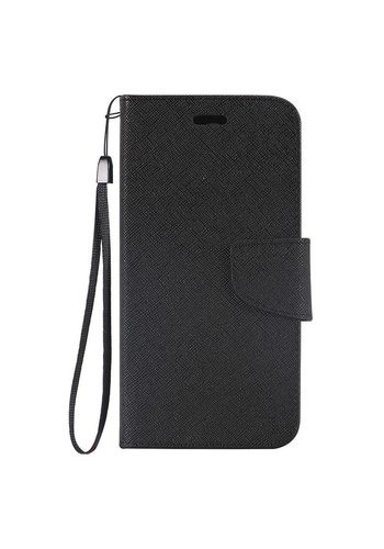 Hybrid PU Leather Flip Cover Case Wallet with Credit Card Slots for Galaxy J7 Perx / Prime 2017
