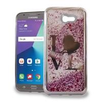 Chrome Glitter Motion Love Case for Galaxy J7 Perx 2017