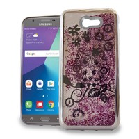 Chrome Glitter Motion Owl Case for Galaxy J7 Perx 2017