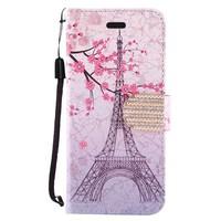 Design Leather Flip Wallet Credit Card For LG Stylo 3 (LS777) / Stylo 3 Plus - Vintage Eiffel Tower