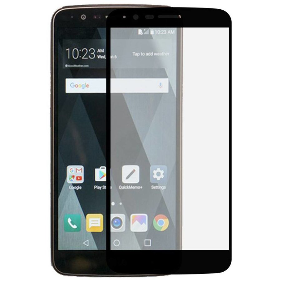 Color Edged Premium Tempered Glass for LG Stylo 3 (LS777) / Stylo 3 Plus - Gold Single Pack