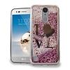Chrome Glitter Motion Love Case for LG Aristo LV3