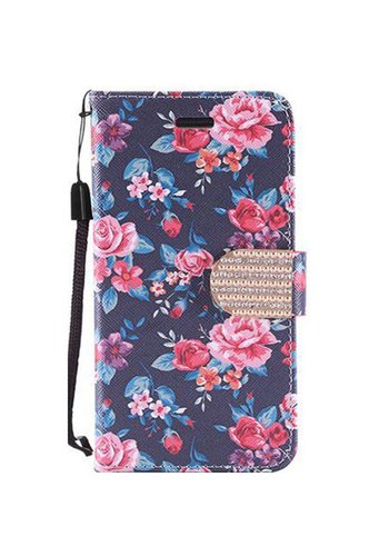 Design Leather Flip Wallet Credit Card For LG Tribute HD LS676 - Tropical Flower