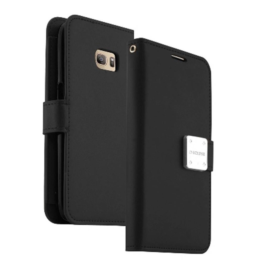 ECLIPSE Hybrid PU Leather Flip Cover Case Wallet with Credit Card Slots for LG Tribute HD LS676
