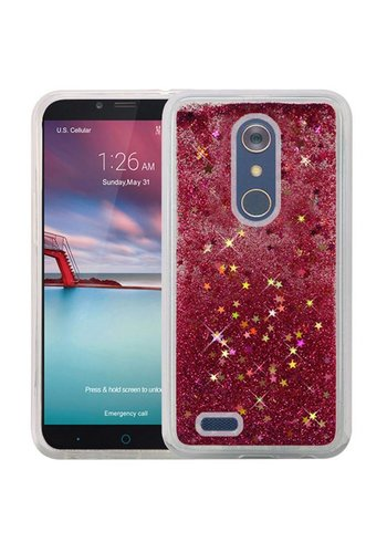 Liquid Quicksand with Glitter Hybrid Hard PC TPU Case for ZTE ZMAX PRO