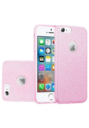 Hybrid Clear PC TPU Case with Glitter Paper For iPhone 5/5S/SE