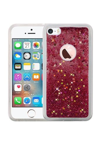 Liquid Quicksand with Glitter Hybrid Hard PC TPU Case for iPhone 5/5S/SE