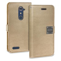 ECLIPSE Hybrid PU Leather Flip Cover Case Wallet with Credit Card Slots for ZTE Zmax Pro