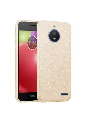 Hybrid Clear PC TPU Case with Glitter Paper For Motorola Moto E4