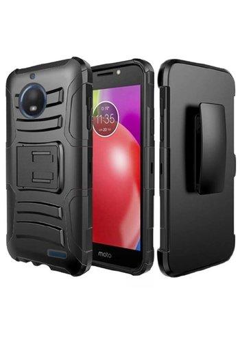 Armor Kickstand Holster Clip Case for Motorola Moto E4
